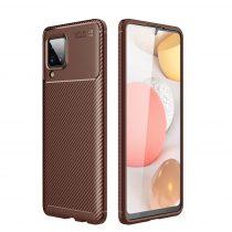 RMPACK Samsung Galaxy A12 Tok Szilikon TPU NEW Carbon Fiber - Karbon Minta Barna