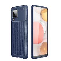 RMPACK Samsung Galaxy A12 Tok Szilikon TPU NEW Carbon Fiber - Karbon Minta Sötétkék