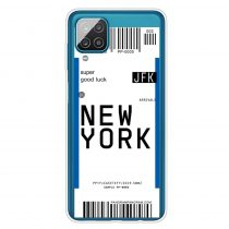 RMPACK Samsung Galaxy A12 Szilikon Tok Boarding Check Series NEW YORK