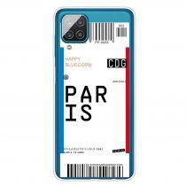 RMPACK Samsung Galaxy A12 Szilikon Tok Boarding Check Series PARIS