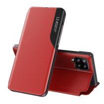 RMPACK Samsung Galaxy A12 Notesz Tok Ablakos View Window Series Kitámasztható Piros
