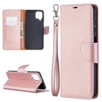 RMPACK Samsung Galaxy A12 Notesz Tok Prémium Woman Series Kitámasztható - Kártyatartóval Rózsaarany