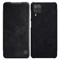 RMPACK Samsung Galaxy A12 Notesz Tok NILLKIN Qin Bőr Notesz Tok Fekete