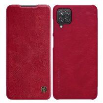 RMPACK Samsung Galaxy A12 Notesz Tok NILLKIN Qin Bőr Notesz Tok Piros