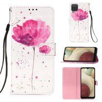 RMPACK Samsung Galaxy A12 Notesz Tok Mintás Kitámasztható - Kártyatartóval Colorful Series A03
