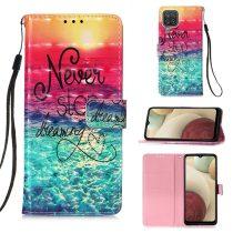 RMPACK Samsung Galaxy A12 Notesz Tok Mintás Kitámasztható - Kártyatartóval Colorful Series A05