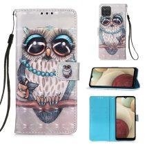RMPACK Samsung Galaxy A12 Notesz Tok Mintás Kitámasztható - Kártyatartóval Colorful Series A07