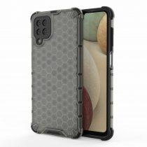 RMPACK Samsung Galaxy A12 Ütésállókivitel Szilikon Tok Honeycomb Shock-Proof TPU Fekete