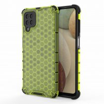 RMPACK Samsung Galaxy A12 Ütésállókivitel Szilikon Tok Honeycomb Shock-Proof TPU Zöld