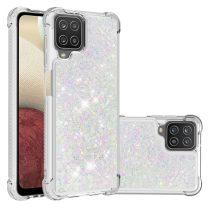 RMPACK Samsung Galaxy A12 TPU Szilikon Tok Glitteres Csillámló Ezüst