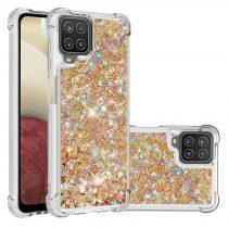 RMPACK Samsung Galaxy A12 TPU Szilikon Tok Glitteres Csillámló Arany