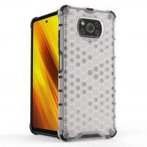 Xiaomi Poco X3 NFC Tok Ütésálló Honeycomb Case Armor Áttetsző