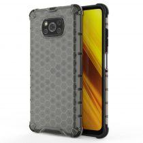 Xiaomi Poco X3 NFC Tok Ütésálló Honeycomb Case Armor Fekete