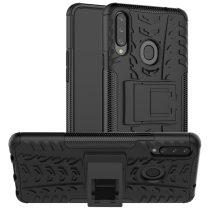 RMPACK Samsung Galaxy A20S Ütésálló Tok Kitámasztható 2in1 Hybrid Fekete