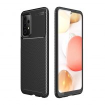 RMPACK Samsung Galaxy A52 5G Tok Szilikon TPU NEW Carbon Fiber - Karbon Minta Fekete