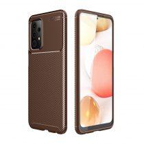 RMPACK Samsung Galaxy A52 5G Tok Szilikon TPU NEW Carbon Fiber - Karbon Minta Barna