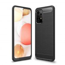 RMPACK Samsung Galaxy A52 5G Szilikon Tok Ütésállókivitel Karbon Mintázattal Fekete