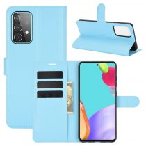 RMPACK Samsung Galaxy A52 5G Notesz Tok Business Series Kitámasztható Bankkártyatartóval Világoskék