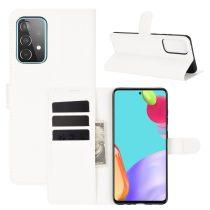 RMPACK Samsung Galaxy A52 5G Notesz Tok Business Series Kitámasztható Bankkártyatartóval Fehér