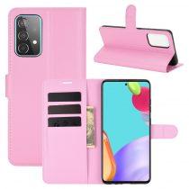 RMPACK Samsung Galaxy A52 5G Notesz Tok Business Series Kitámasztható Bankkártyatartóval Rózsaszín