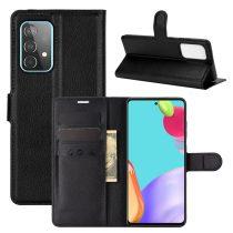RMPACK Samsung Galaxy A52 5G Notesz Tok Business Series Kitámasztható Bankkártyatartóval Fekete