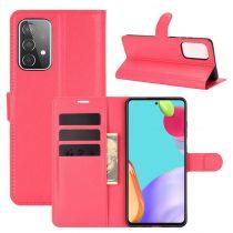 RMPACK Samsung Galaxy A52 5G Notesz Tok Business Series Kitámasztható Bankkártyatartóval Piros