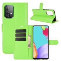 RMPACK Samsung Galaxy A52 5G Notesz Tok Business Series Kitámasztható Bankkártyatartóval Zöld