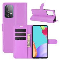 RMPACK Samsung Galaxy A52 5G Notesz Tok Business Series Kitámasztható Bankkártyatartóval Lila