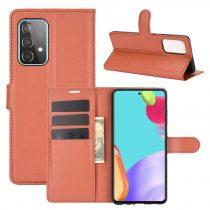 RMPACK Samsung Galaxy A52 5G Notesz Tok Business Series Kitámasztható Bankkártyatartóval Barna