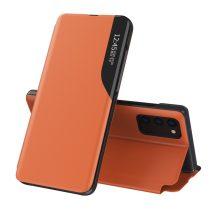 RMPACK Samsung Galaxy A52 5G Notesz Tok Ablakos View Window Series Kitámasztható Narancssárga