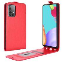 RMPACK Samsung Galaxy A52 5G Flip Tok Kártyatartóval Mágneses Piros