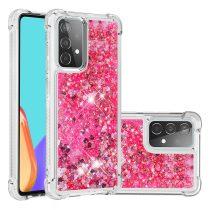 RMPACK Samsung Galaxy A52 5G Szilikon Tok TPU Csillámló Shining TPU Pink