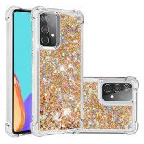 RMPACK Samsung Galaxy A52 5G Szilikon Tok TPU Csillámló Shining TPU Arany