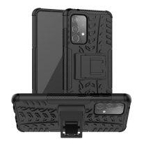 RMPACK Samsung Galaxy A52 5G Ütésálló Tok Kitámasztható 2in1 Hybrid Fekete