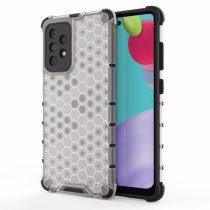 RMPACK Samsung Galaxy A52 5G Ütésállókivitel Szilikon Tok Honeycomb Shock-Proof TPU Szürke