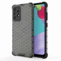 RMPACK Samsung Galaxy A52 5G Ütésállókivitel Szilikon Tok Honeycomb Shock-Proof TPU Fekete