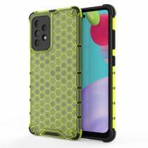 RMPACK Samsung Galaxy A52 5G Ütésállókivitel Szilikon Tok Honeycomb Shock-Proof TPU Zöld
