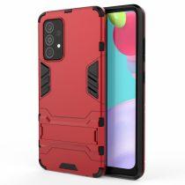 RMPACK Samsung Galaxy A52 5G Tok 2in1 Ütésálló - Kitámasztható TPU Hybrid Piros