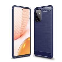 RMPACK Samsung Galaxy A72 5G Szilikon Tok Ütésállókivitel Karbon Mintázattal Sötétkék