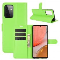 RMPACK Samsung Galaxy A72 5G Notesz Tok Business Series Kitámasztható Bankkártyatartóval Zöld
