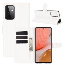 RMPACK Samsung Galaxy A72 5G Notesz Tok Business Series Kitámasztható Bankkártyatartóval Fehér