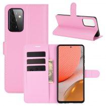 RMPACK Samsung Galaxy A72 5G Notesz Tok Business Series Kitámasztható Bankkártyatartóval Rózsaszín