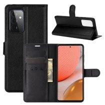 RMPACK Samsung Galaxy A72 5G Notesz Tok Business Series Kitámasztható Bankkártyatartóval Fekete