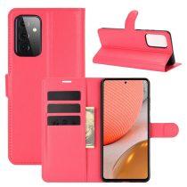 RMPACK Samsung Galaxy A72 5G Notesz Tok Business Series Kitámasztható Bankkártyatartóval Piros