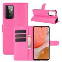 RMPACK Samsung Galaxy A72 5G Notesz Tok Business Series Kitámasztható Bankkártyatartóval Pink