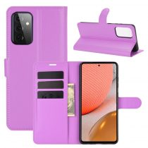 RMPACK Samsung Galaxy A72 5G Notesz Tok Business Series Kitámasztható Bankkártyatartóval Lila