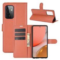 RMPACK Samsung Galaxy A72 5G Notesz Tok Business Series Kitámasztható Bankkártyatartóval Barna