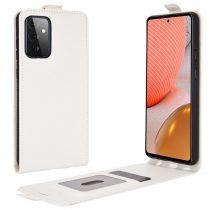 RMPACK Samsung Galaxy A72 5G Flip Tok Kártyatartóval Mágneses Fehér