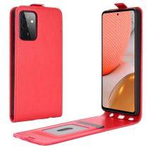 RMPACK Samsung Galaxy A72 5G Flip Tok Kártyatartóval Mágneses Piros