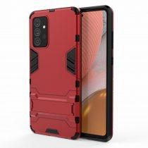 RMPACK Samsung Galaxy A72 5G Tok 2in1 Ütésálló - Kitámasztható TPU Hybrid Piros